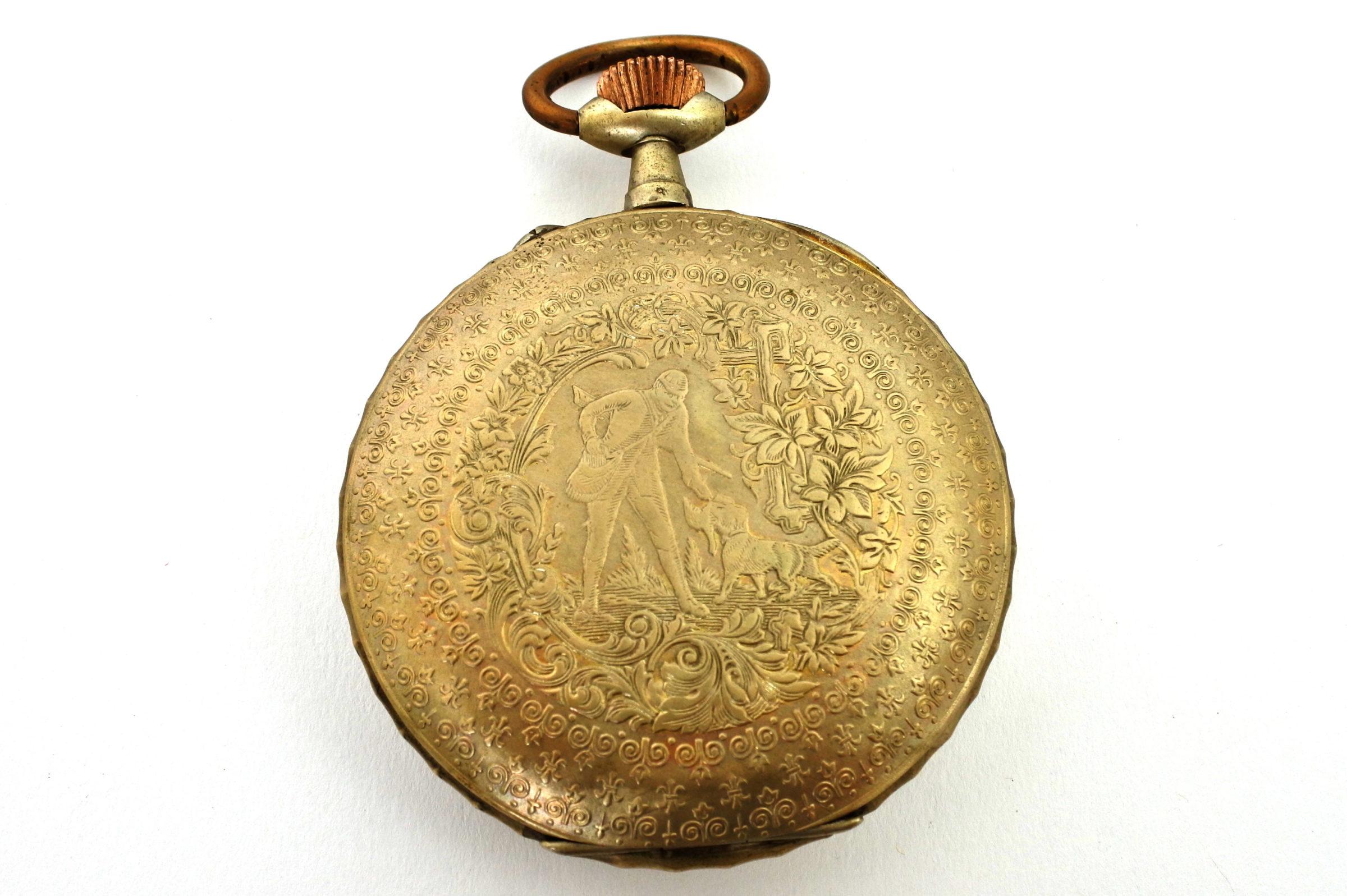 Bellissimo orologio da tasca in argento - 6
