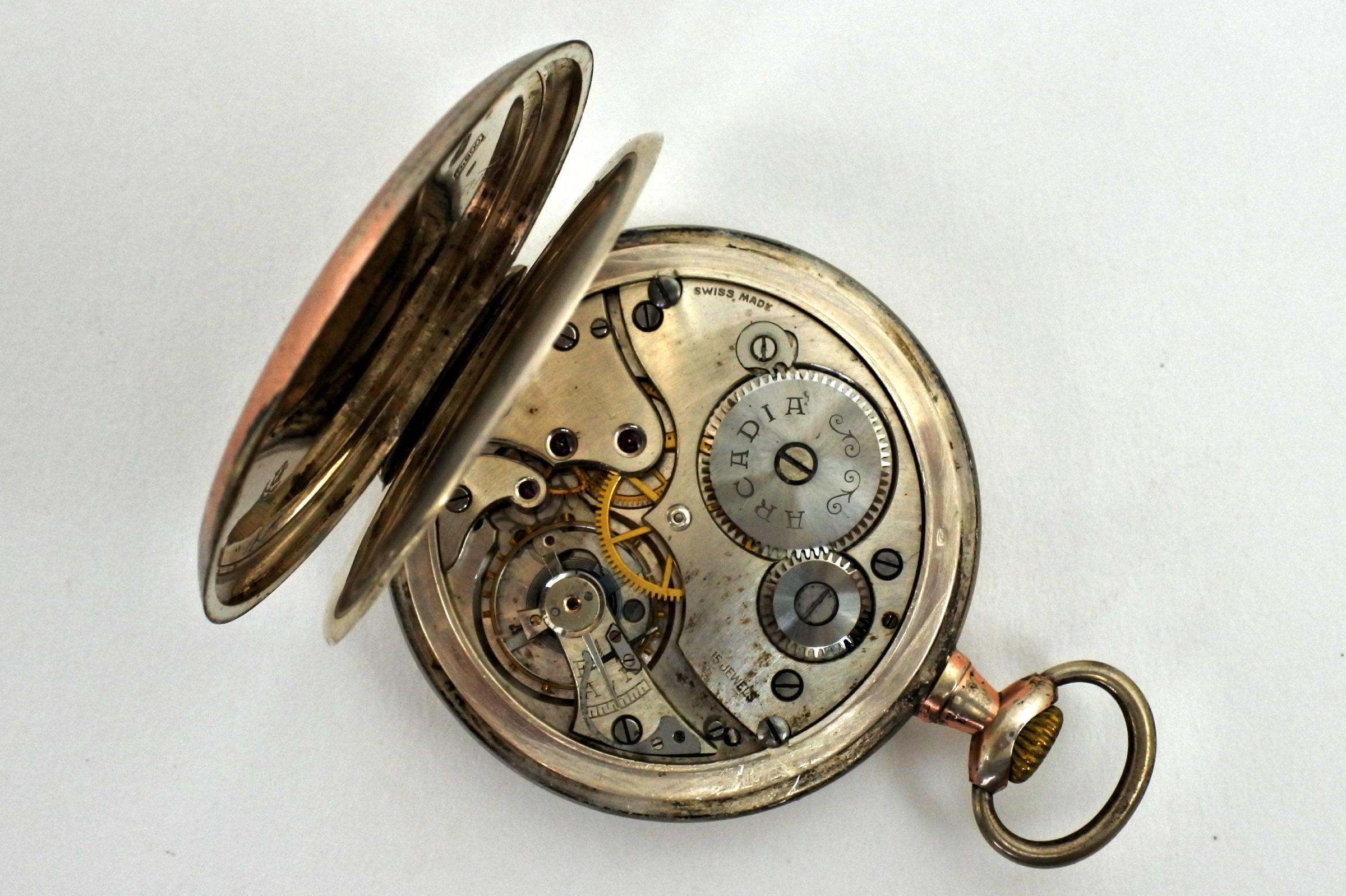 Orologio da tasca in argento – Arcadia - 3