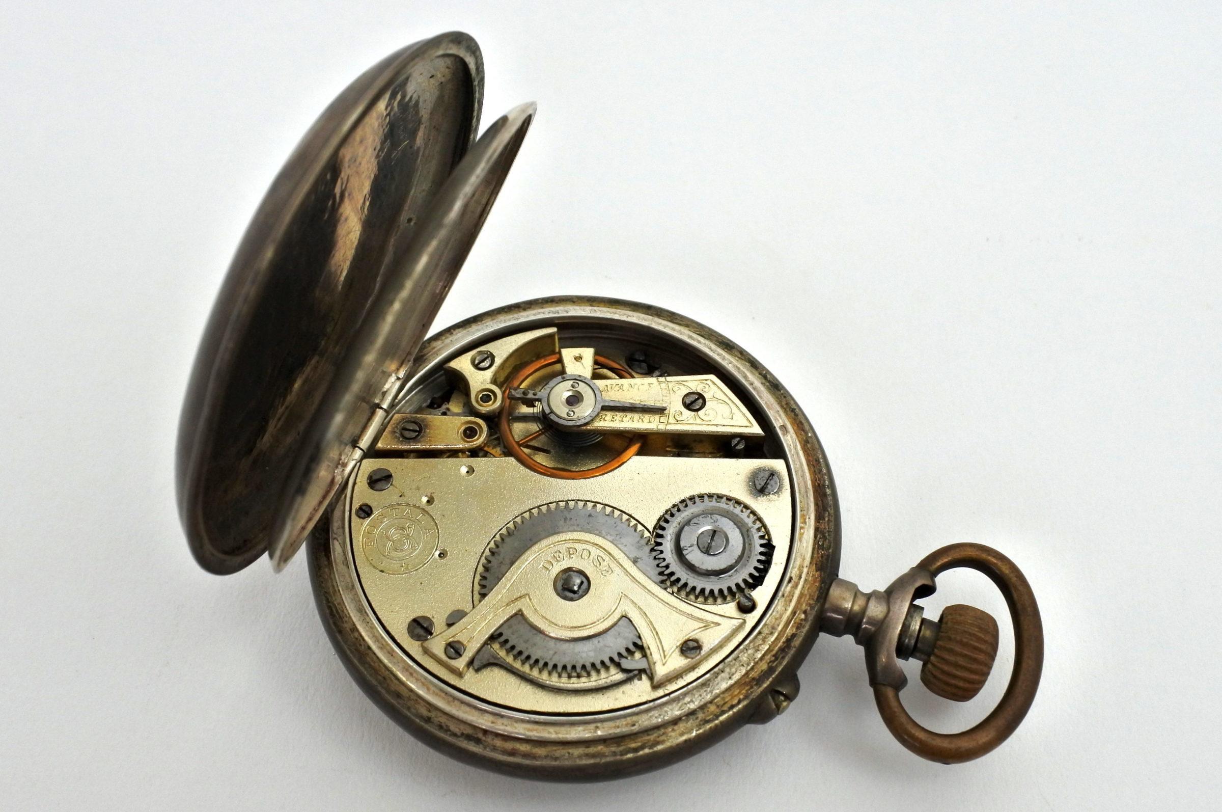 Orologio da tasca in argento – Postala patent - 3