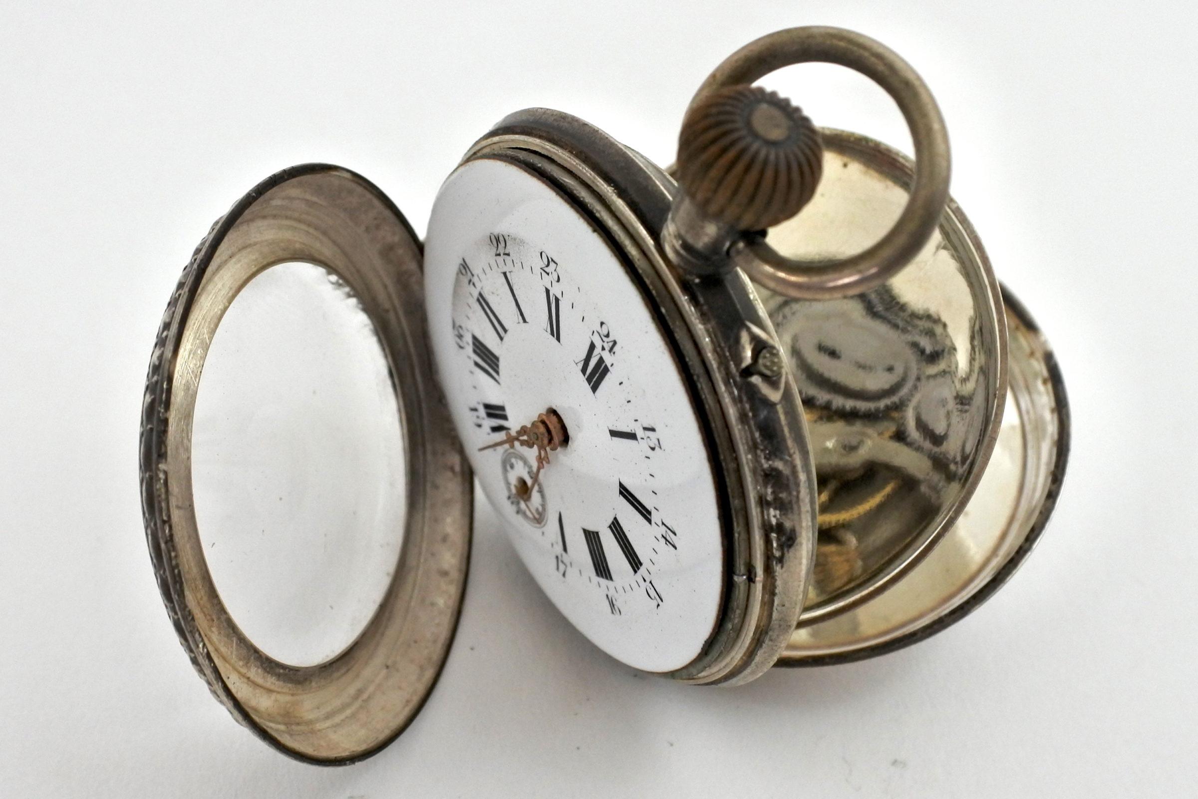 Orologio da tasca in argento – Eclipse - 4