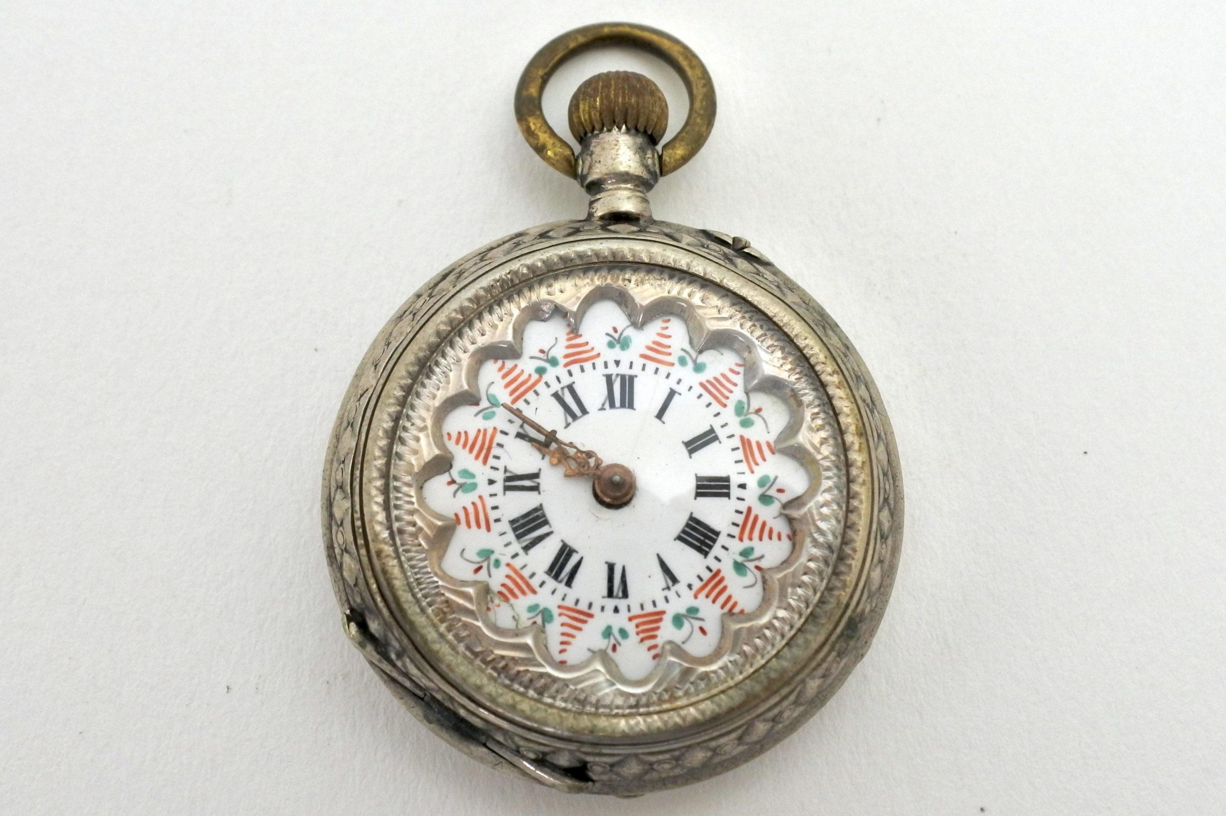 Orologio da tasca – monachina in argento punzonata