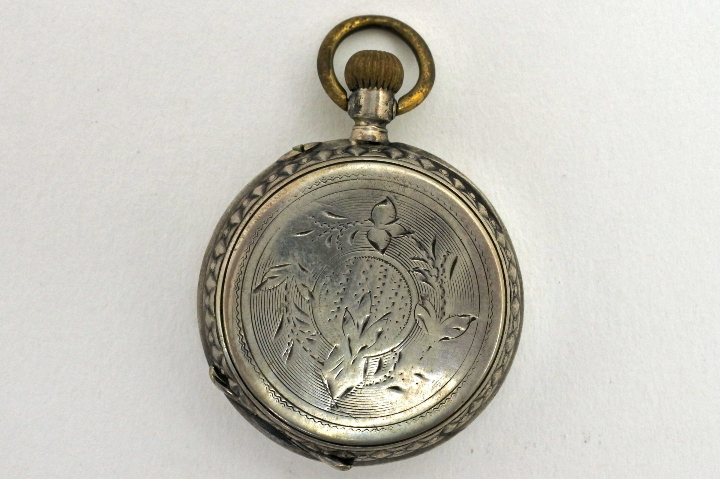 Orologio da tasca – monachina in argento punzonata - 5