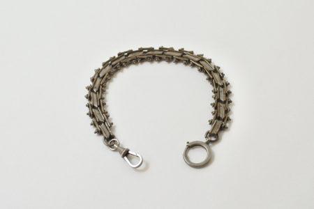 Antica catena in metallo argentato per orologio da tasca
