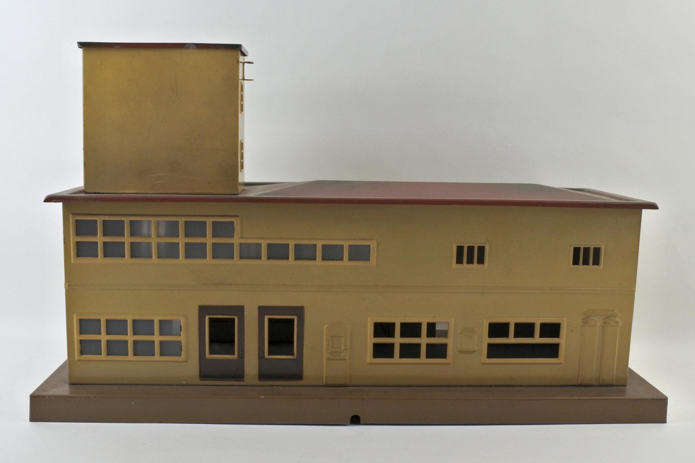 Antica stazione dei treni in latta policroma - Marklin - 2