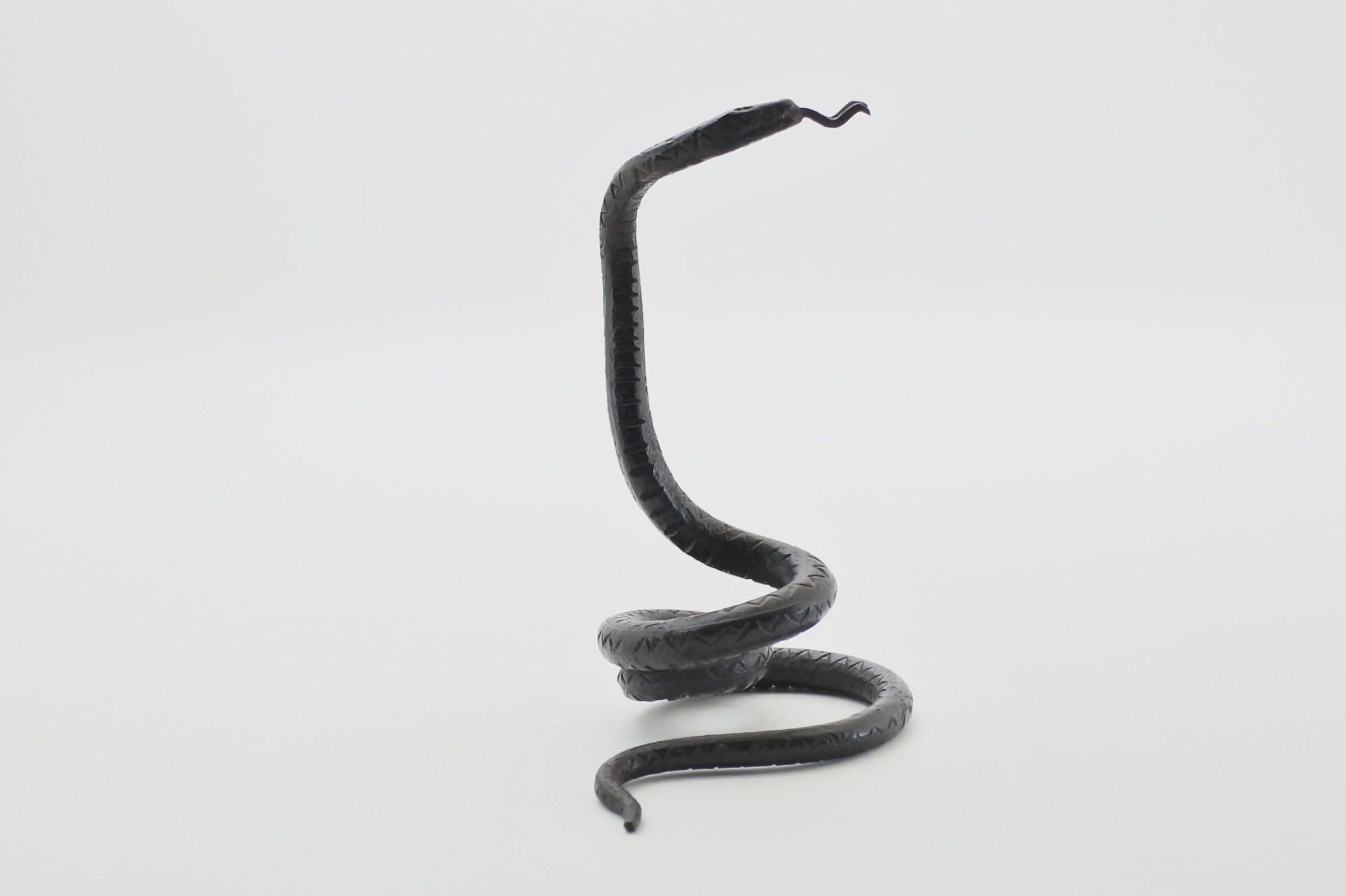 Portaorologi in metallo a forma di serpente - Altezza 8,5 cm - 4