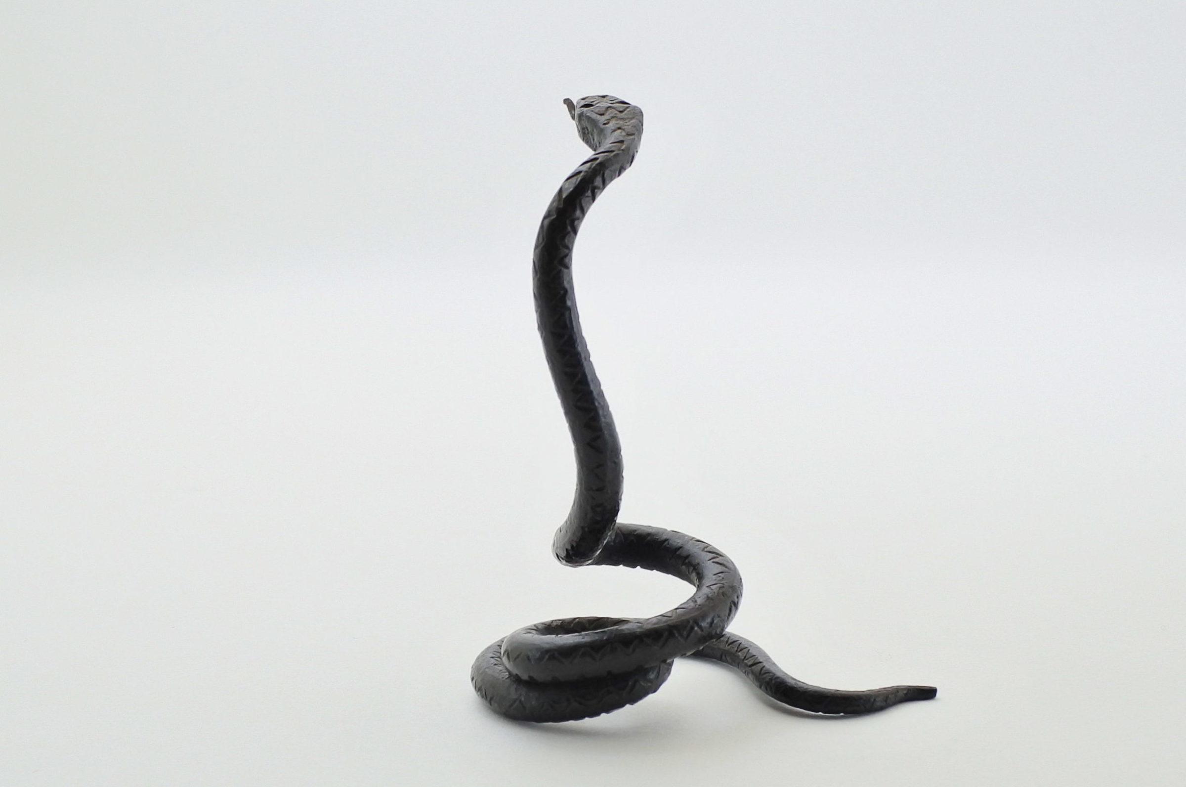 Portaorologi in metallo a forma di serpente - Altezza 8,5 cm - 3