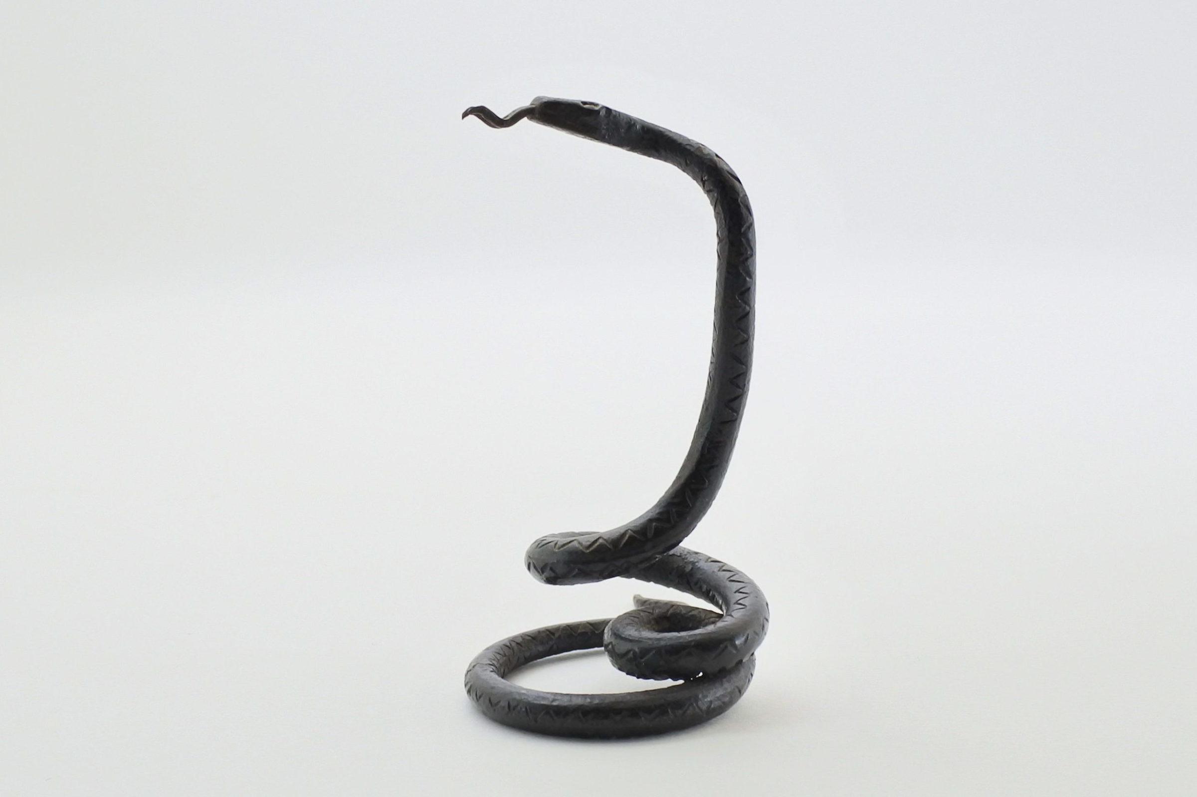 Portaorologi in metallo a forma di serpente - Altezza 8,5 cm - 2