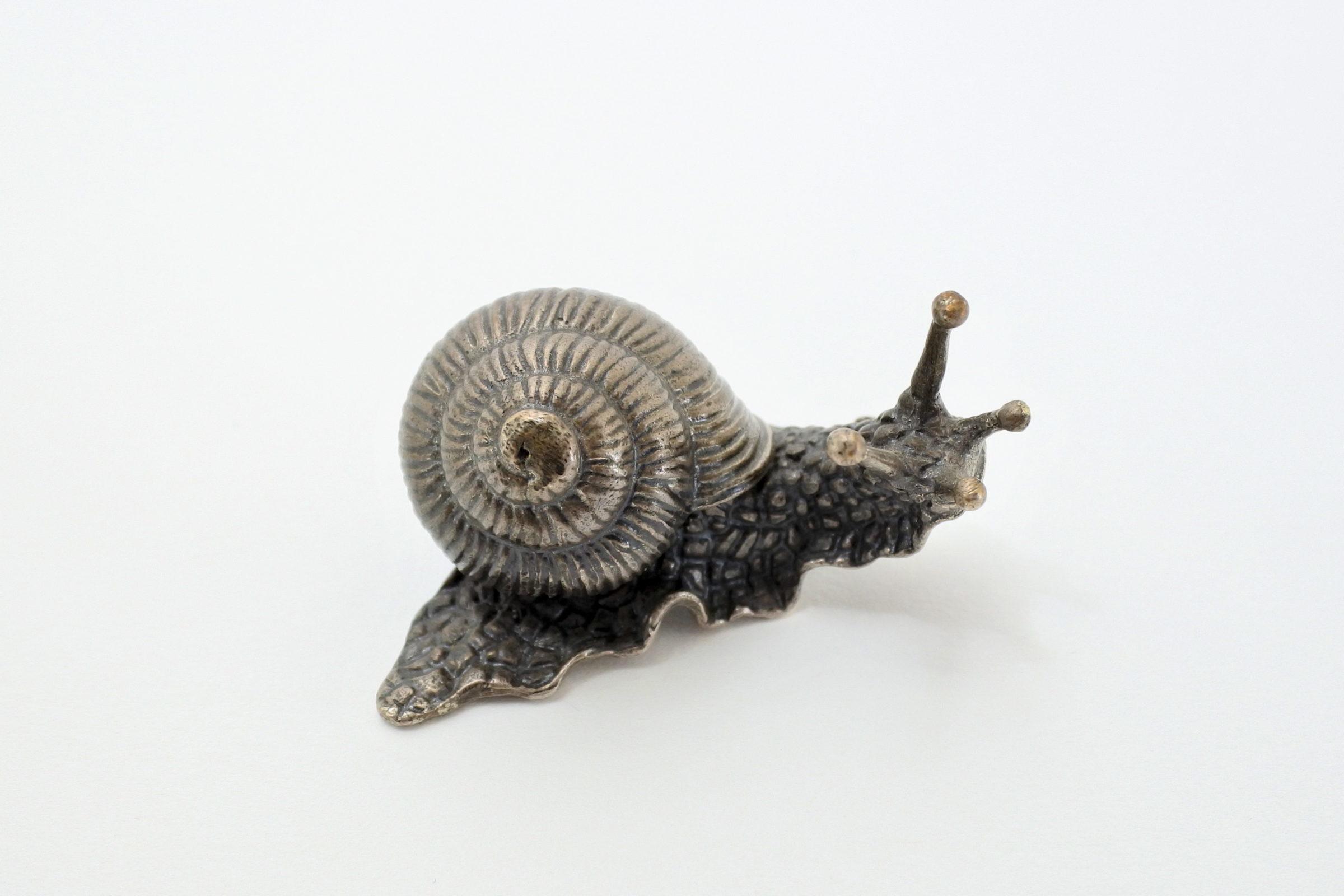 Scatolina in argento massiccio a forma di chiocciola