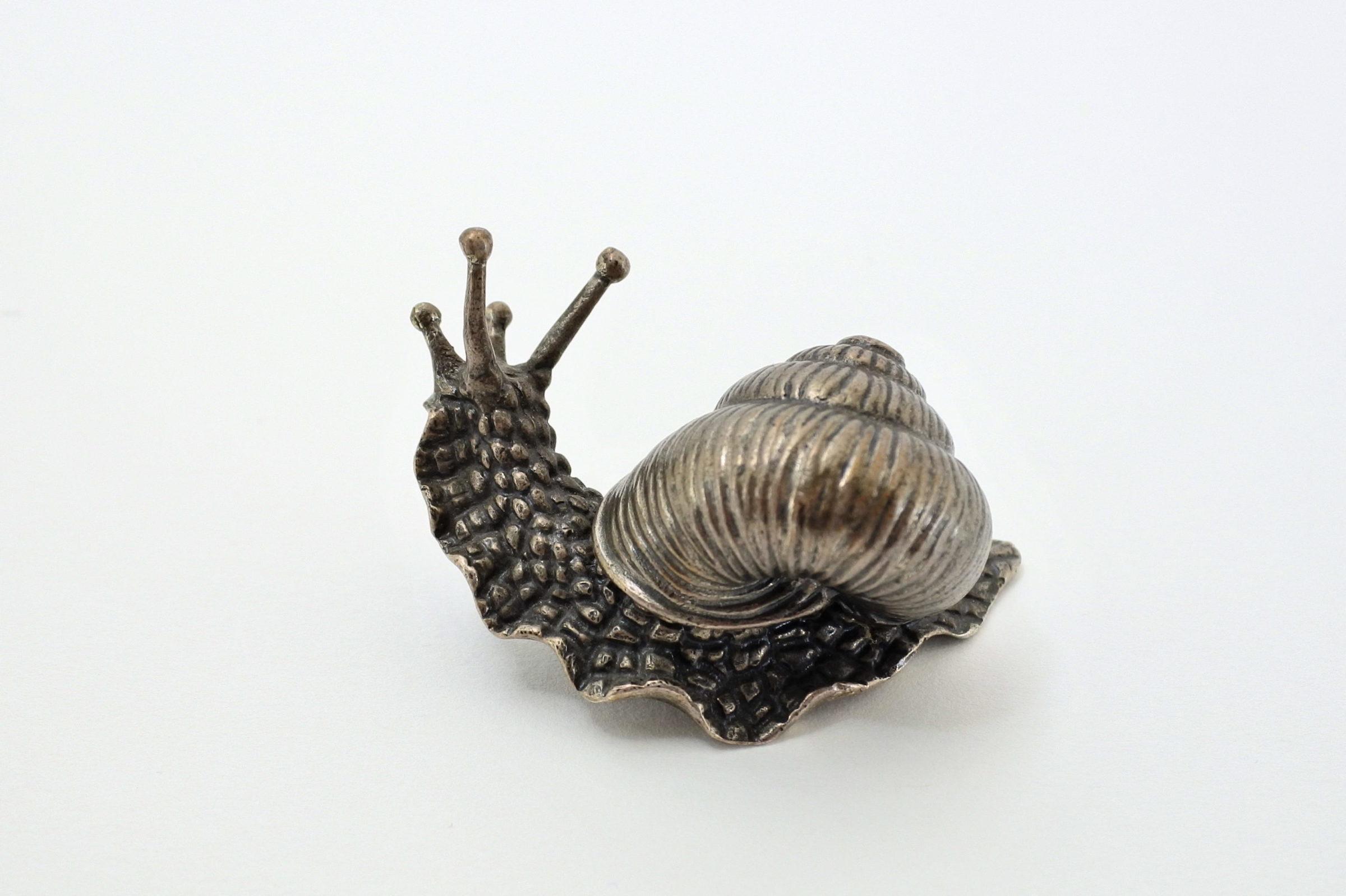 Scatolina in argento massiccio a forma di chiocciola - 2