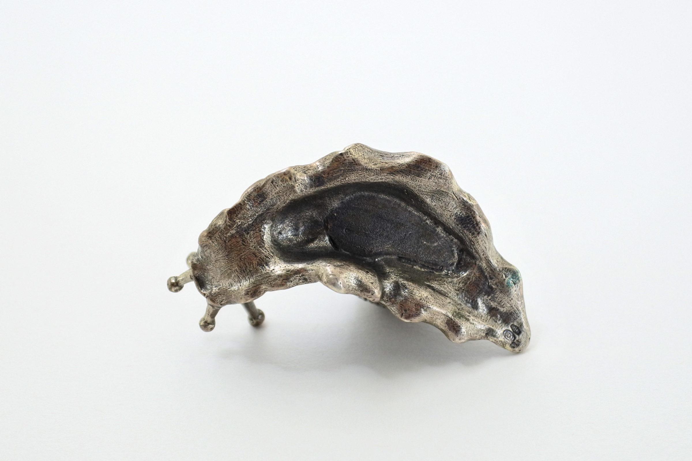 Scatolina in argento massiccio a forma di chiocciola - 4