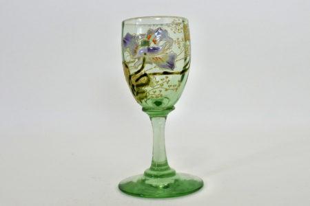 Bicchierino Legras in vetro soffiato e smalti - Altezza 8,3 cm