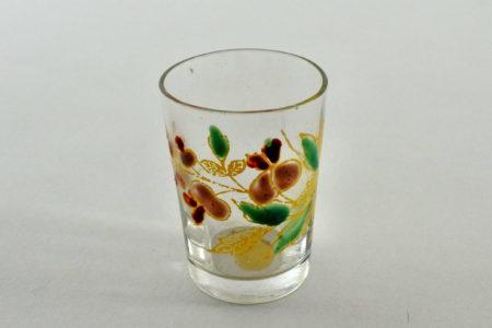 Bicchierino in vetro soffiato e smalti - Altezza 4,8 cm