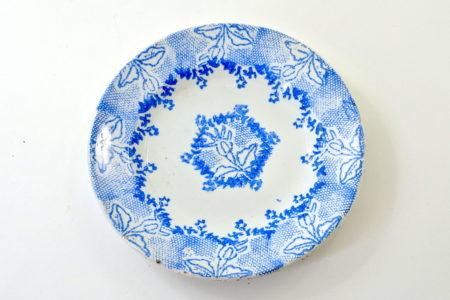 Piatto Mondovì con decoro azzurro - Vedova Besio e Figli