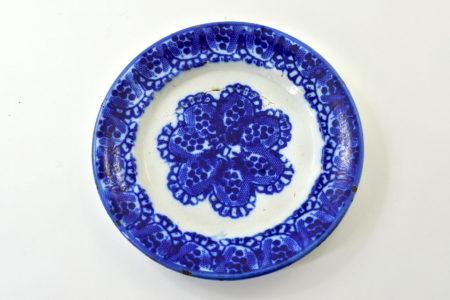 Piatto Mondovì con decoro blu - Giuseppe Besio