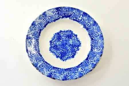 Piatto Mondovì con greca e riserva blu - Vedova Besio e Figli
