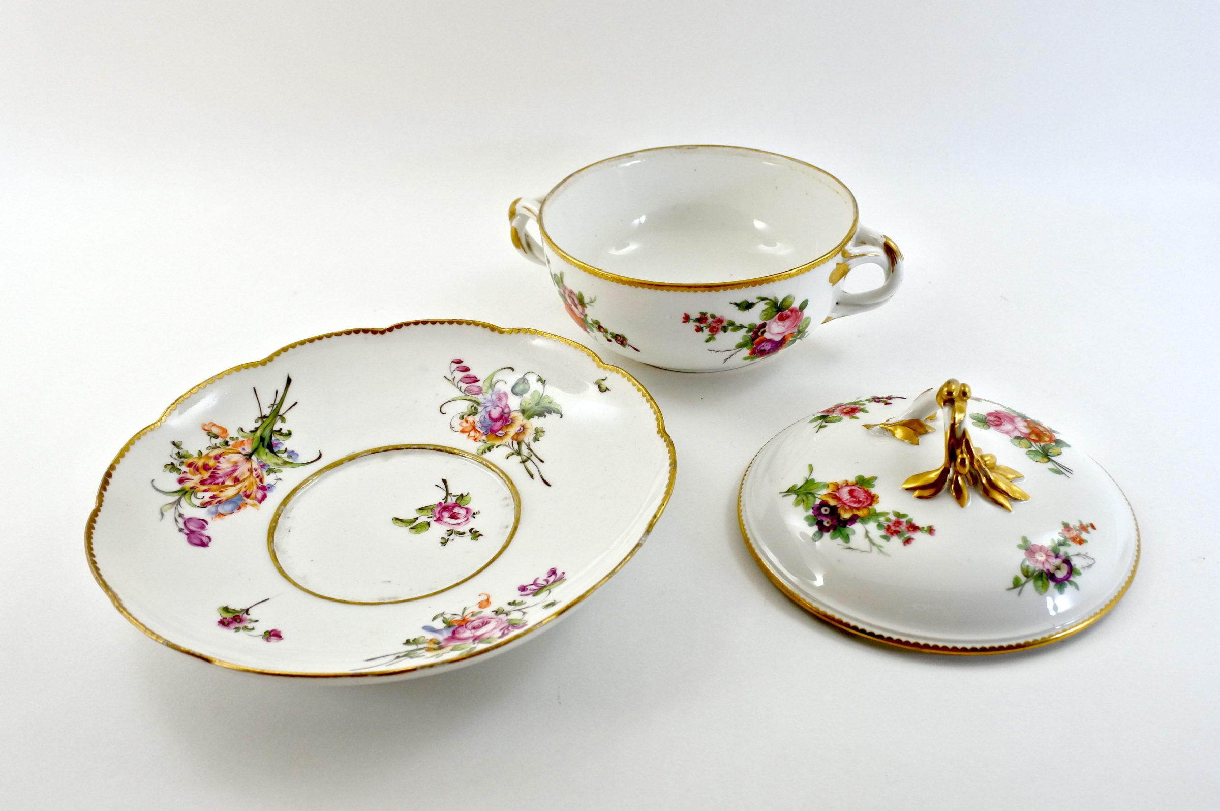 Zuppiera da puerpera in porcellana di Sèvres - 3