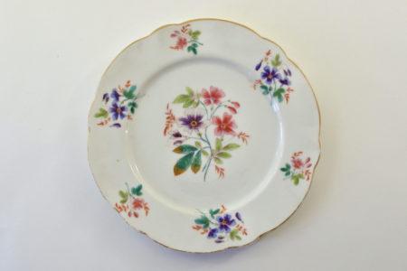 Piatto in porcellana Vecchia Parigi - Vieux Paris con fiorellini