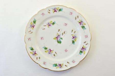 Piatto in porcellana Vecchia Parigi - Vieux Paris con violette