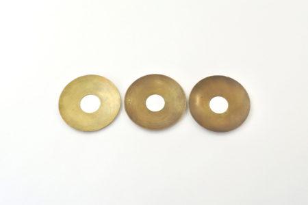 3 bobeches raccoglicera in ottone
