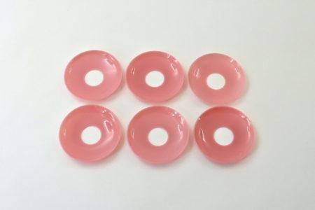 6 bobeches raccoglicera in opaline rosa