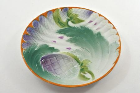 Piatto in ceramica barbotine per asparagi e carciofi – St.Amand Hamage