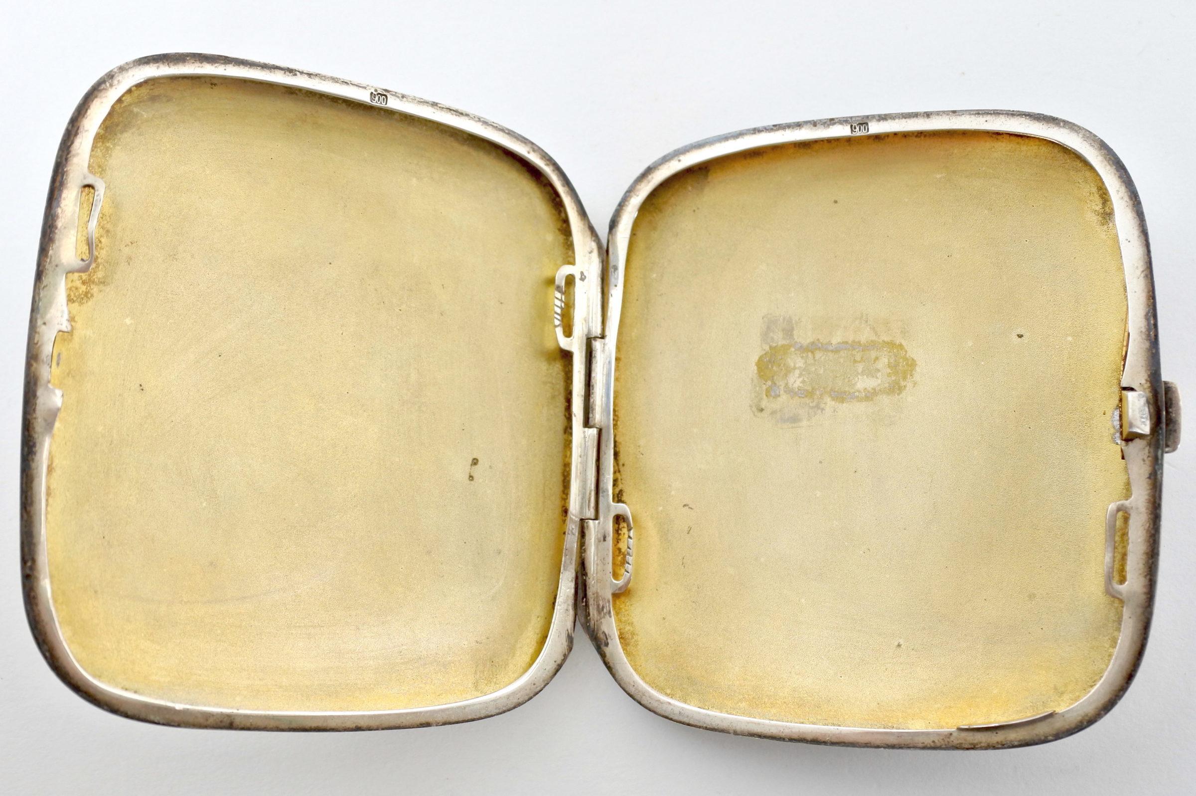 Portasigarette déco in argento niellato - 3