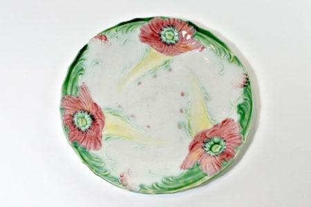 Piatto in ceramica barbotine - Manifattura Lunéville