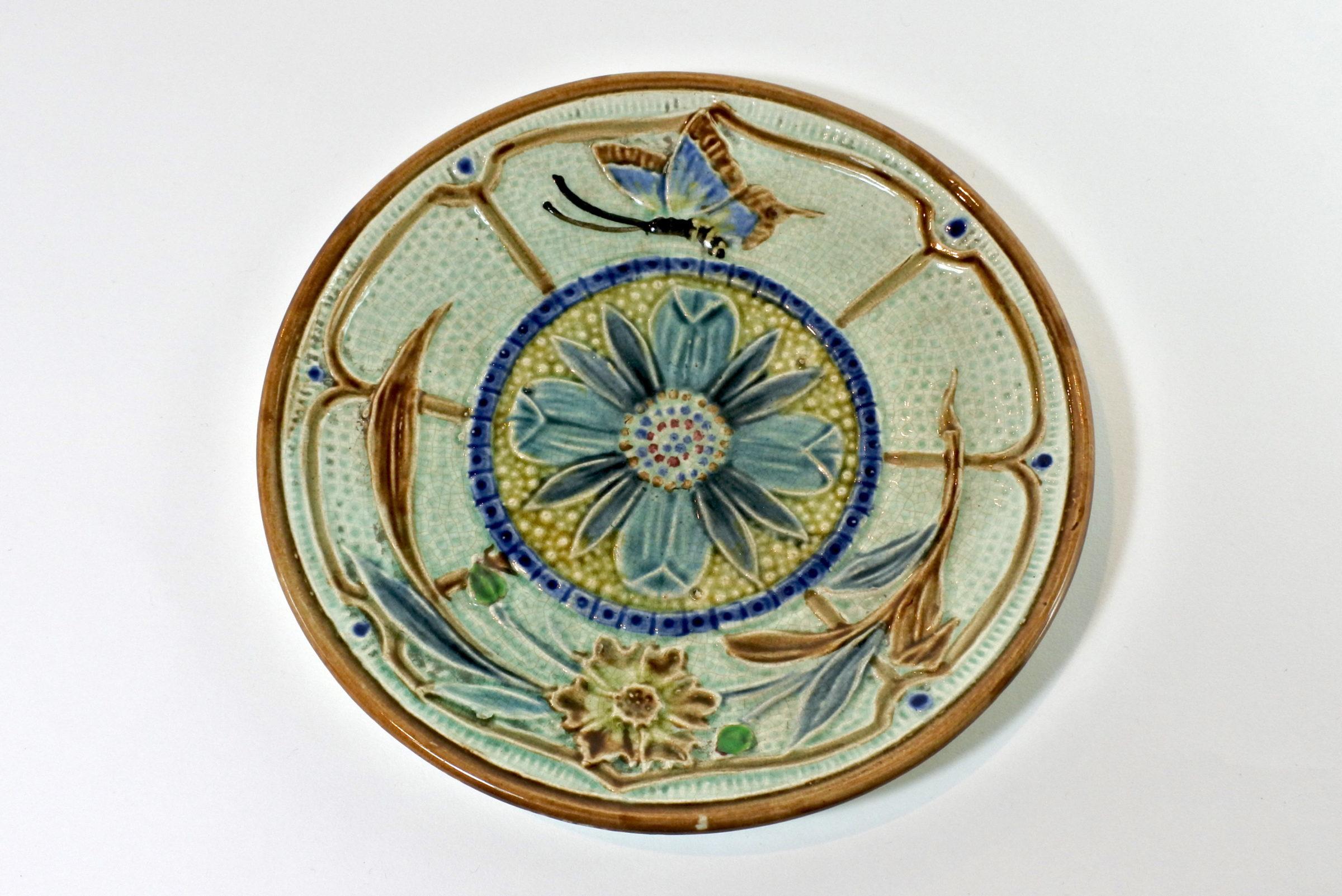 Piatto in ceramica barbotine - Manifattura Wasmüel