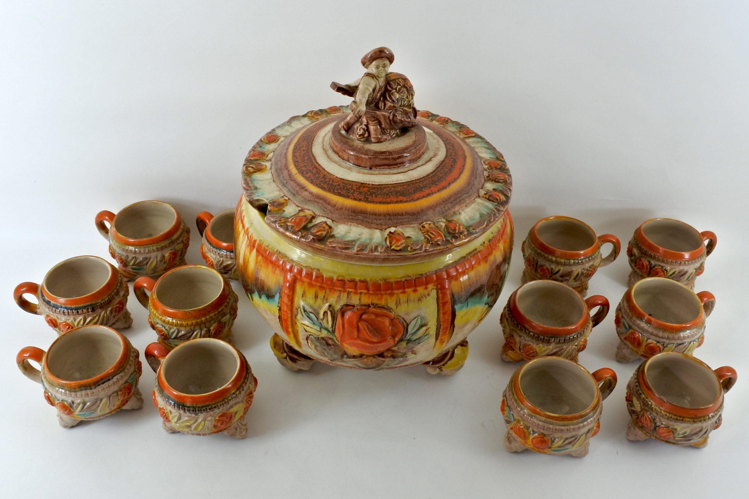 Ciotola per punch in ceramica tedesca - 2