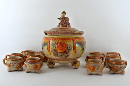 Ciotola per punch in ceramica tedesca