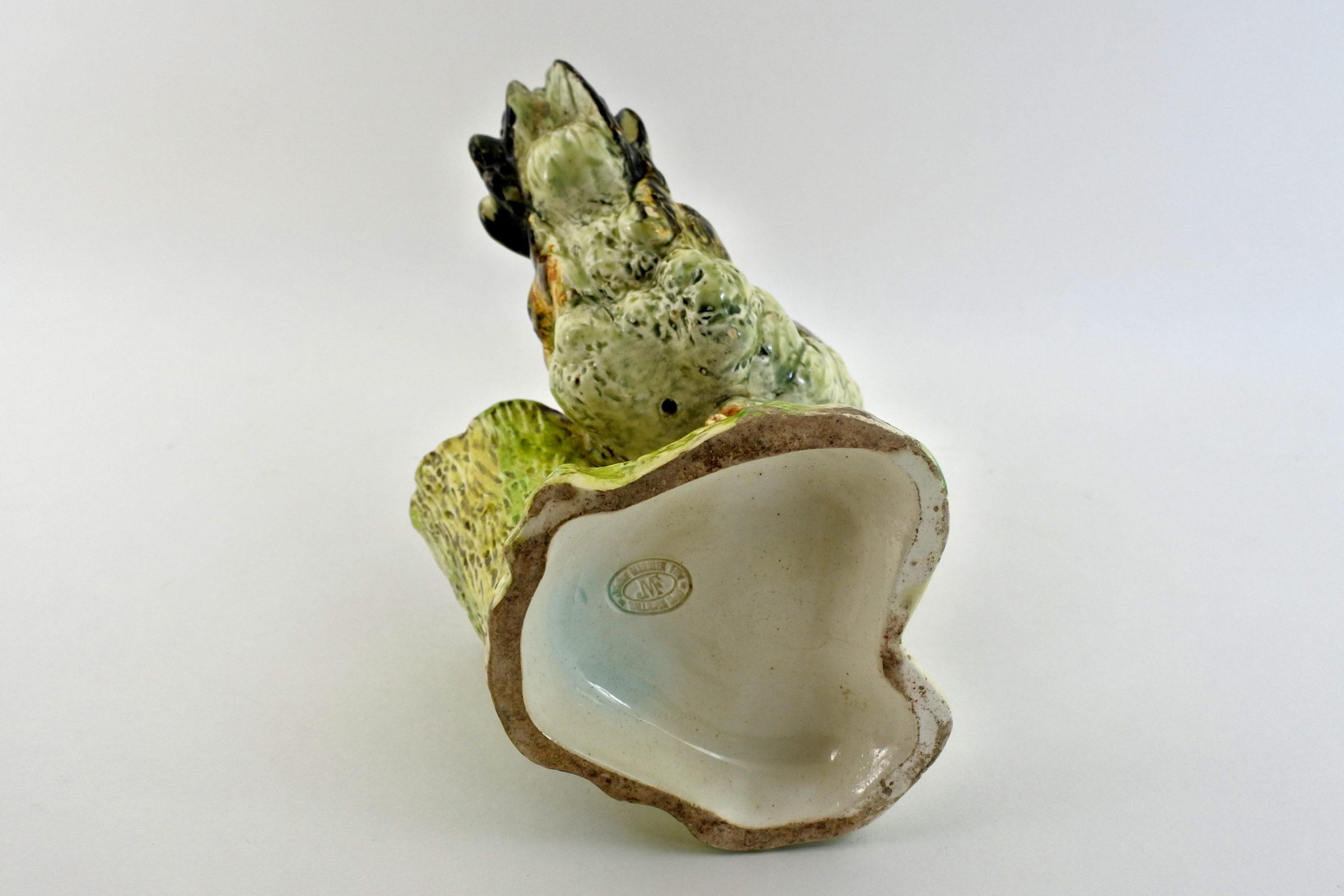 Jardinière Massier in ceramica barbotine a forma di gallina - 5