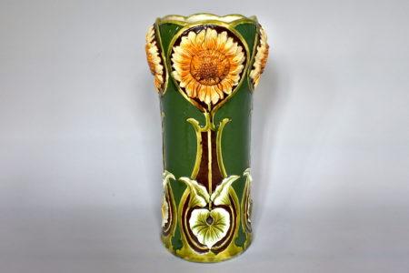 Portaombrelli in ceramica barbotine con girasoli