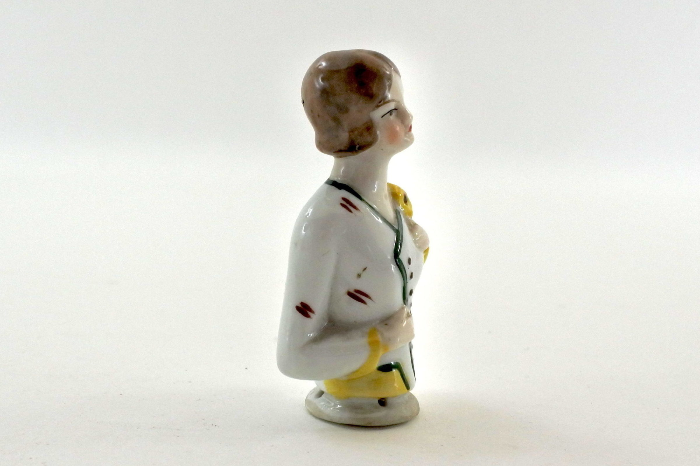 Statuina in ceramica rappresentante una signorina - demi poupée - 3