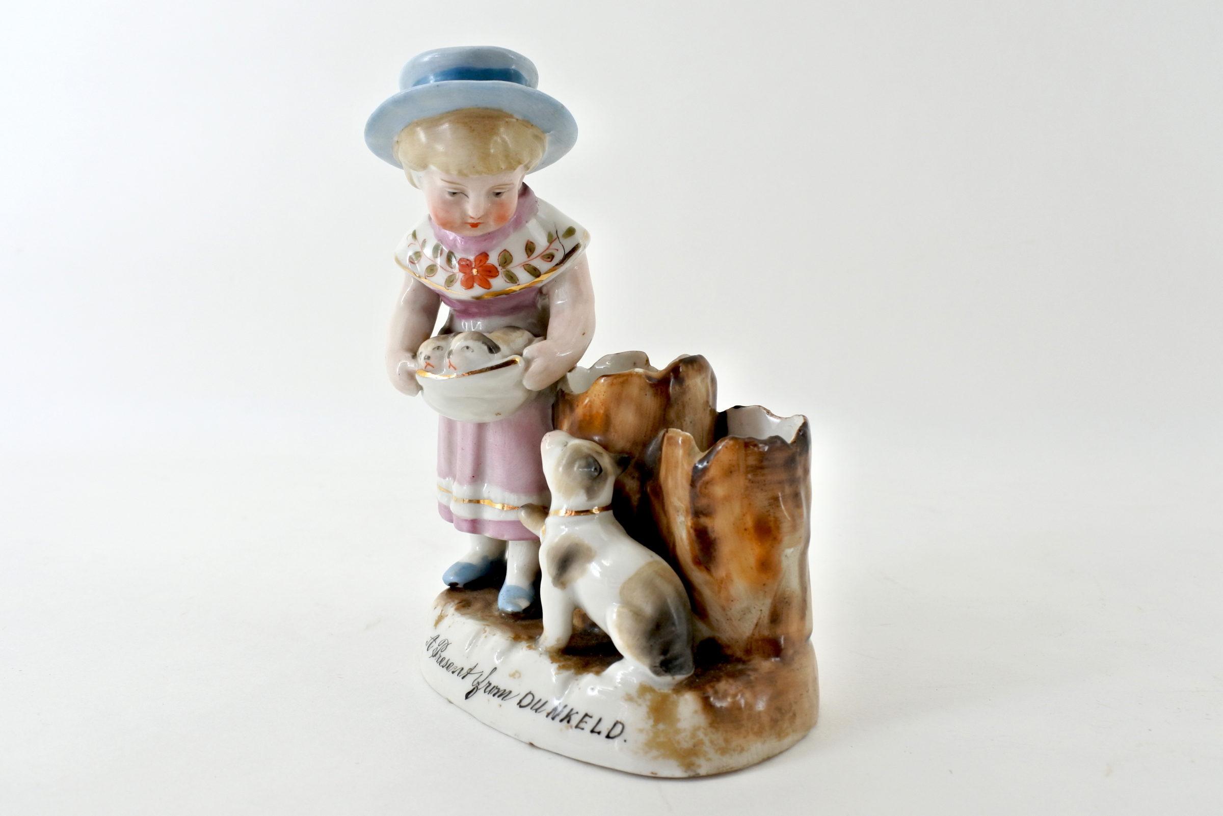 Statuina portafiammiferi in ceramica - Pyrogène - 2