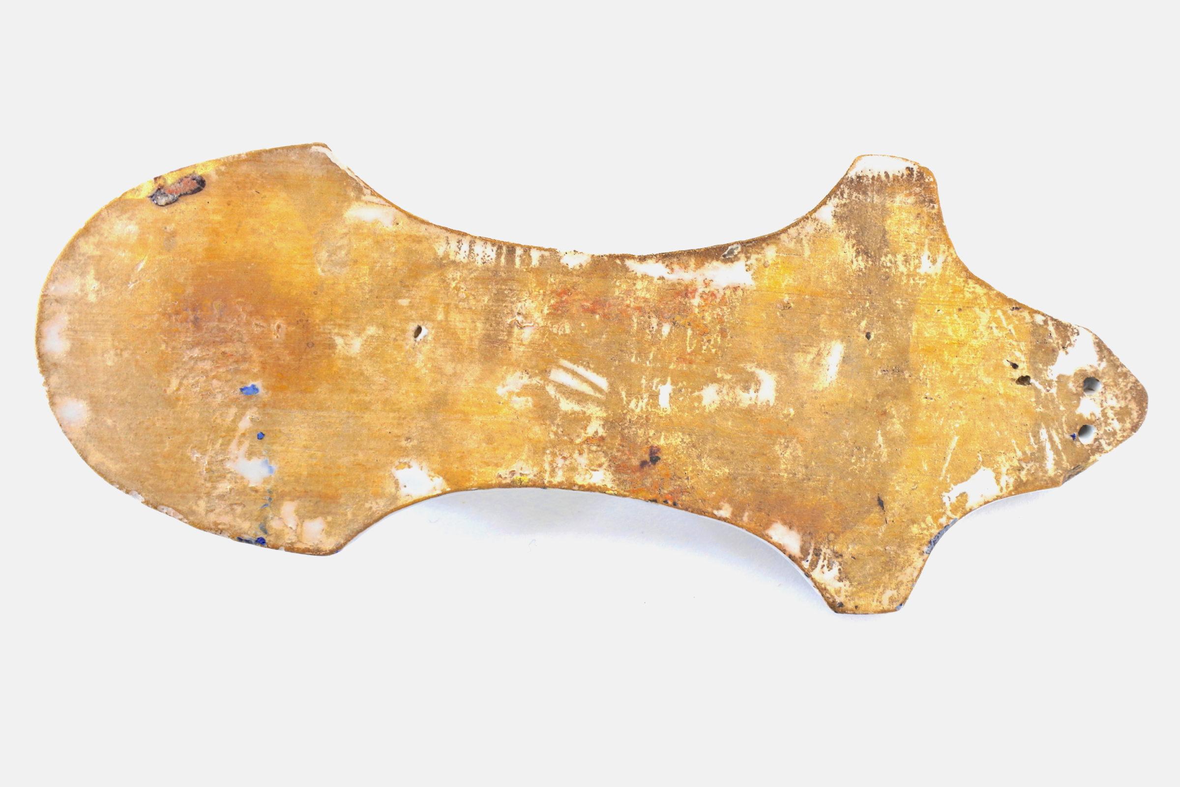 Acquasantiera in ceramica del XIX° secolo - Altezza 19,5 cm - 3