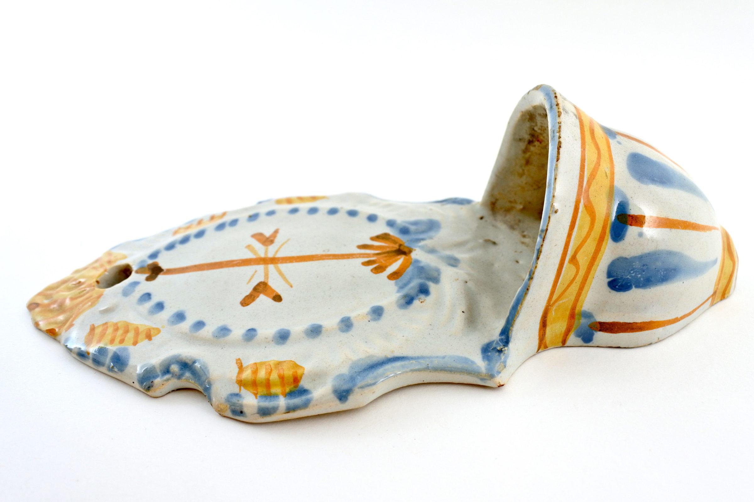 Acquasantiera in ceramica del XIX° secolo - Altezza 21,6 cm - 3