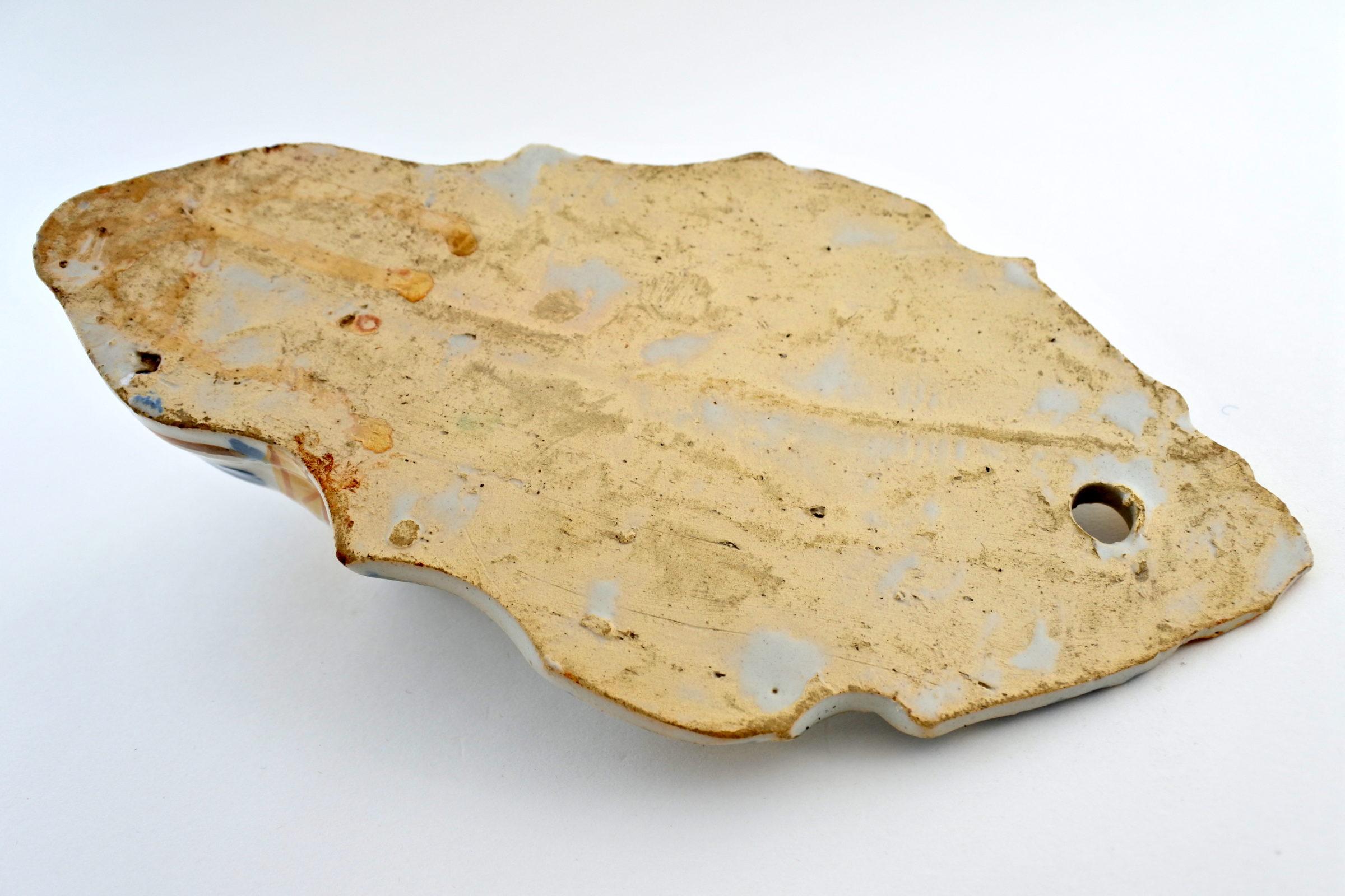 Acquasantiera in ceramica del XIX° secolo - Altezza 21,6 cm - 4