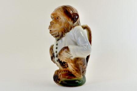 Brocca in ceramica barbotine a forma di scimmia - Saint Clément n° 435
