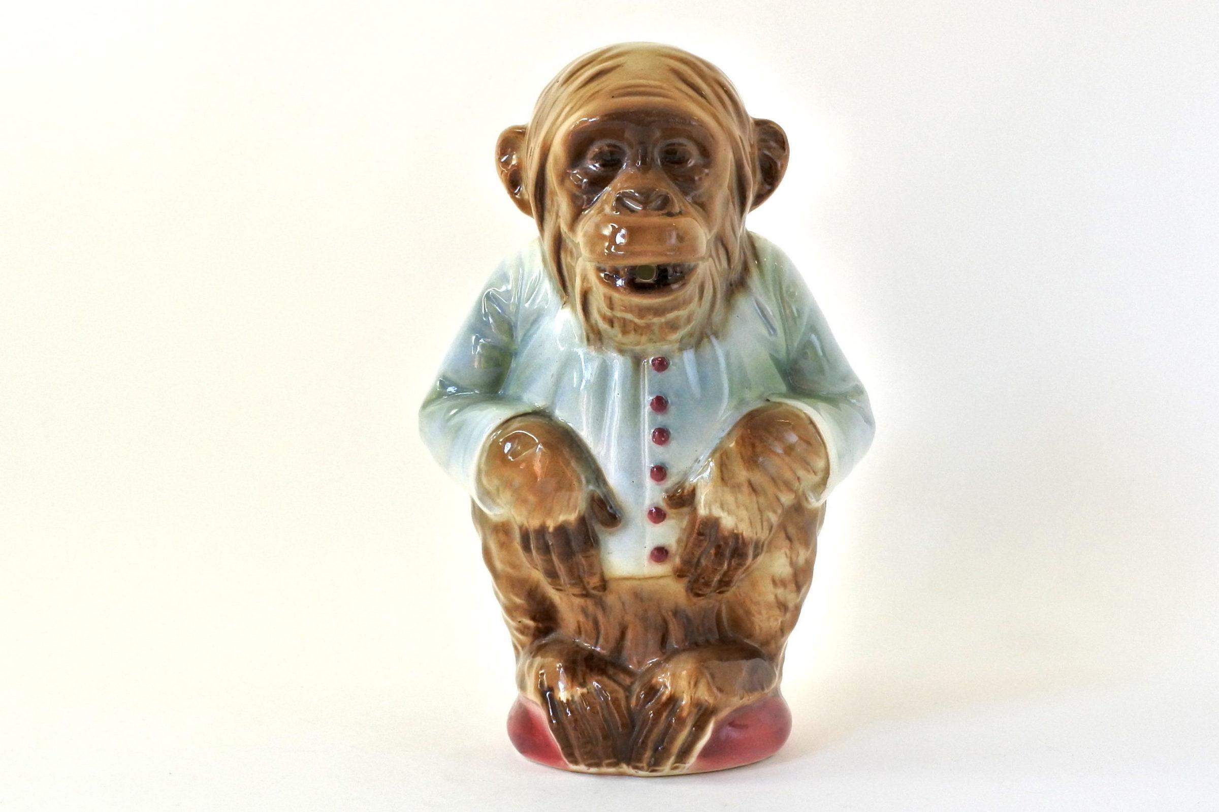 Brocca in ceramica barbotine con forma di scimmia - Saint Clément n° 435 - 5