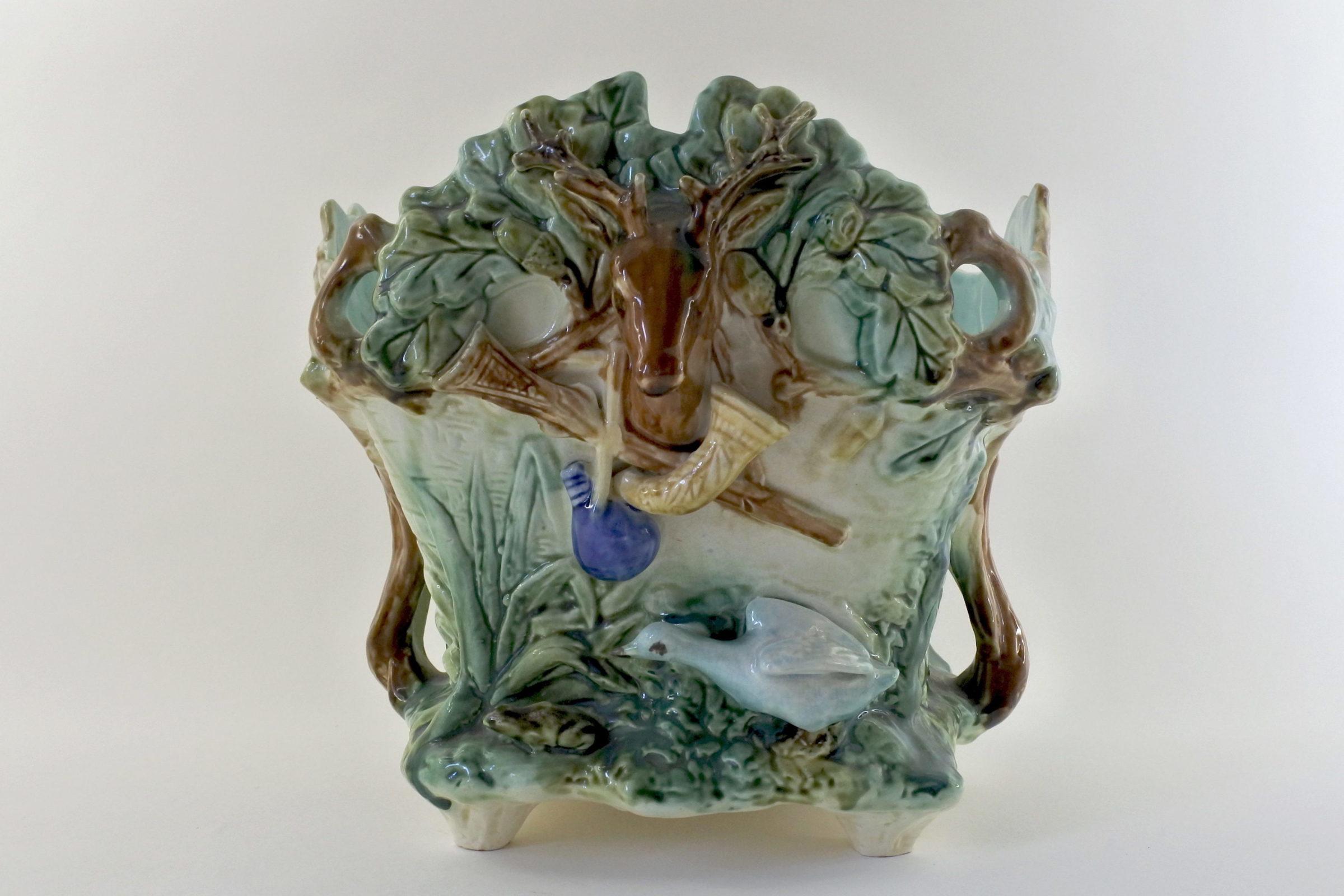 """Cache pot Onnaing """"la caccia"""" in ceramica barbotine - 3"""