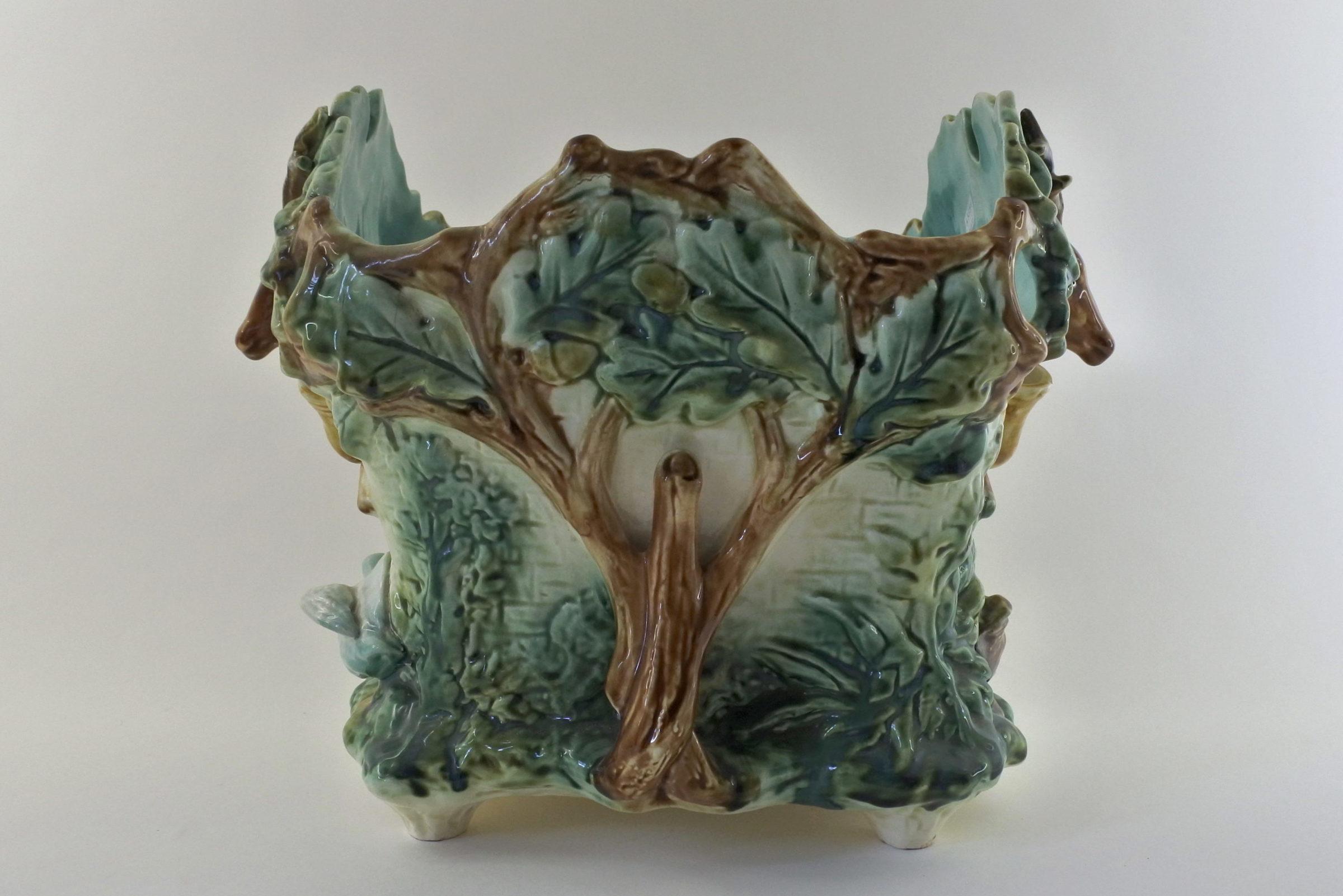 """Cache pot Onnaing """"la caccia"""" in ceramica barbotine - 4"""