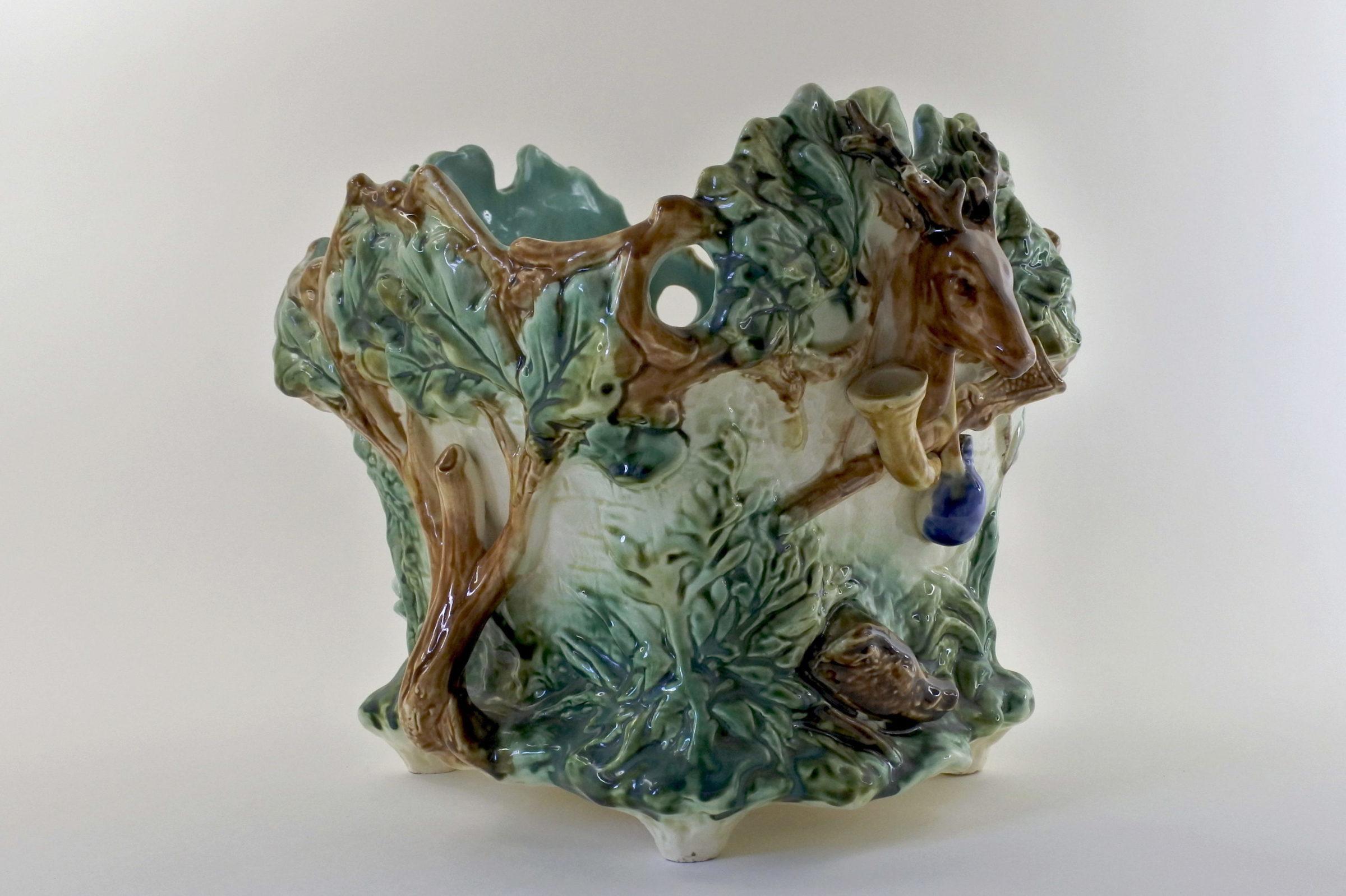 """Cache pot Onnaing """"la caccia"""" in ceramica barbotine - 5"""