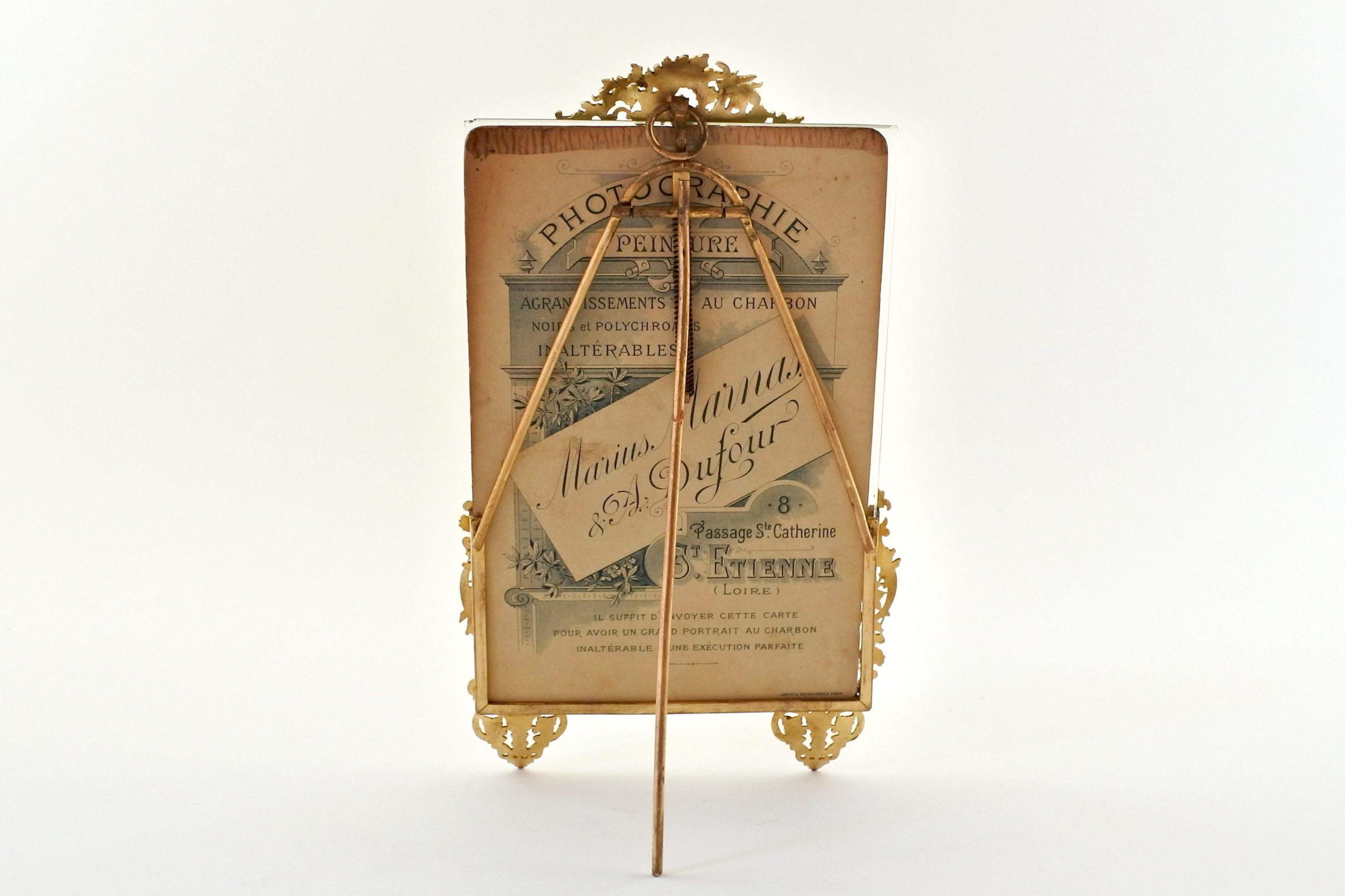 Cornice portafoto antica con splendidi fregi smaltati - 2