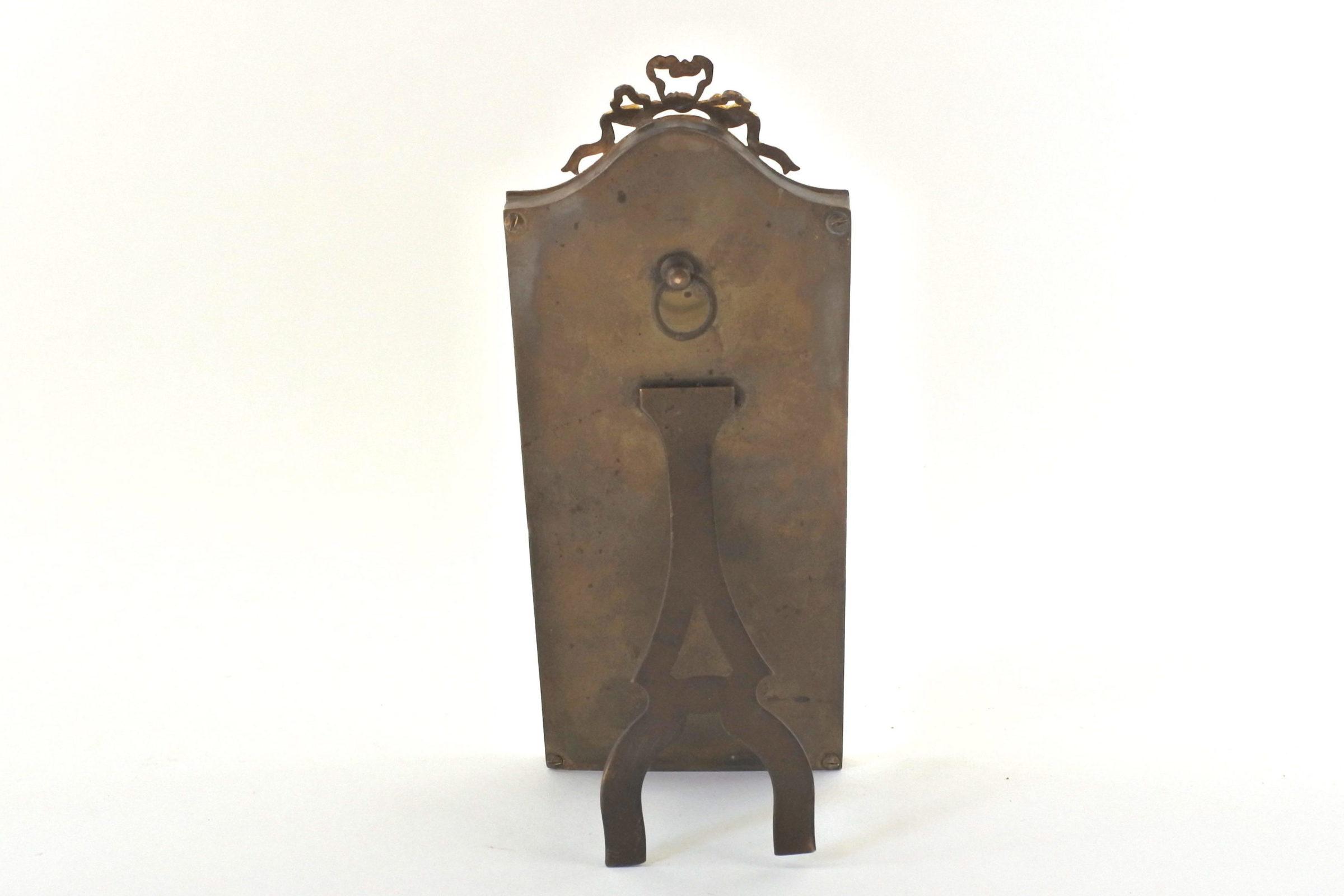 Cornice portafotografia antica in bronzo dorato - 2