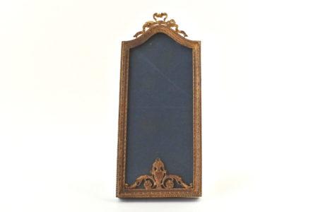 Cornice portafotografia antica in bronzo dorato