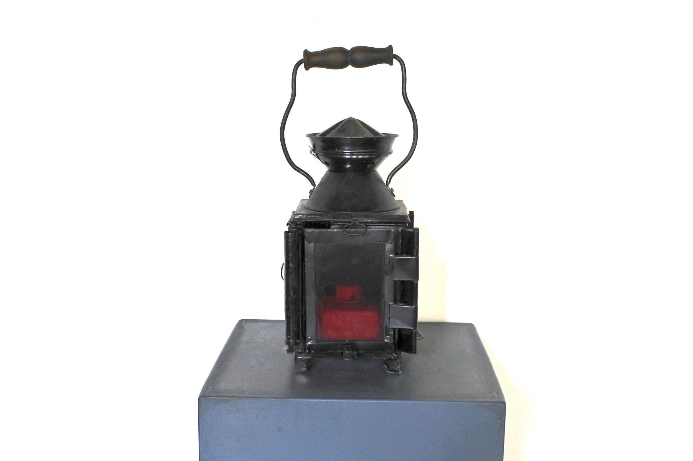 Lanterna da segnalazione a petrolio con vetri bianco rosso e verde - F.S - 4