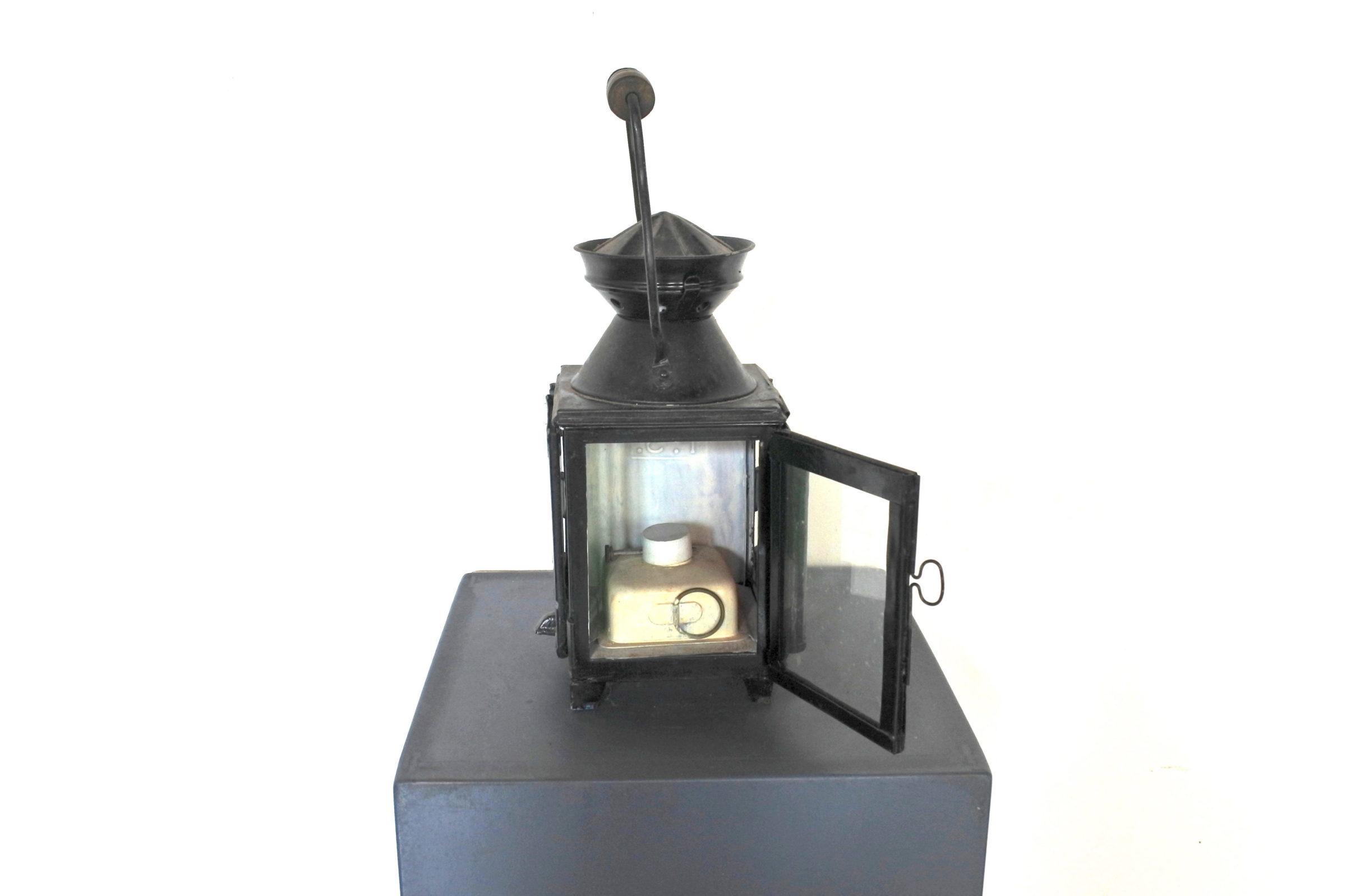 Lanterna da segnalazione a petrolio con vetri bianco rosso e verde - F.S - 5