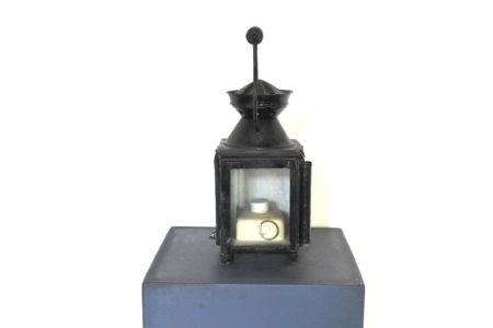 Lanterna da segnalazione a petrolio con vetri bianco rosso e verde - F.S