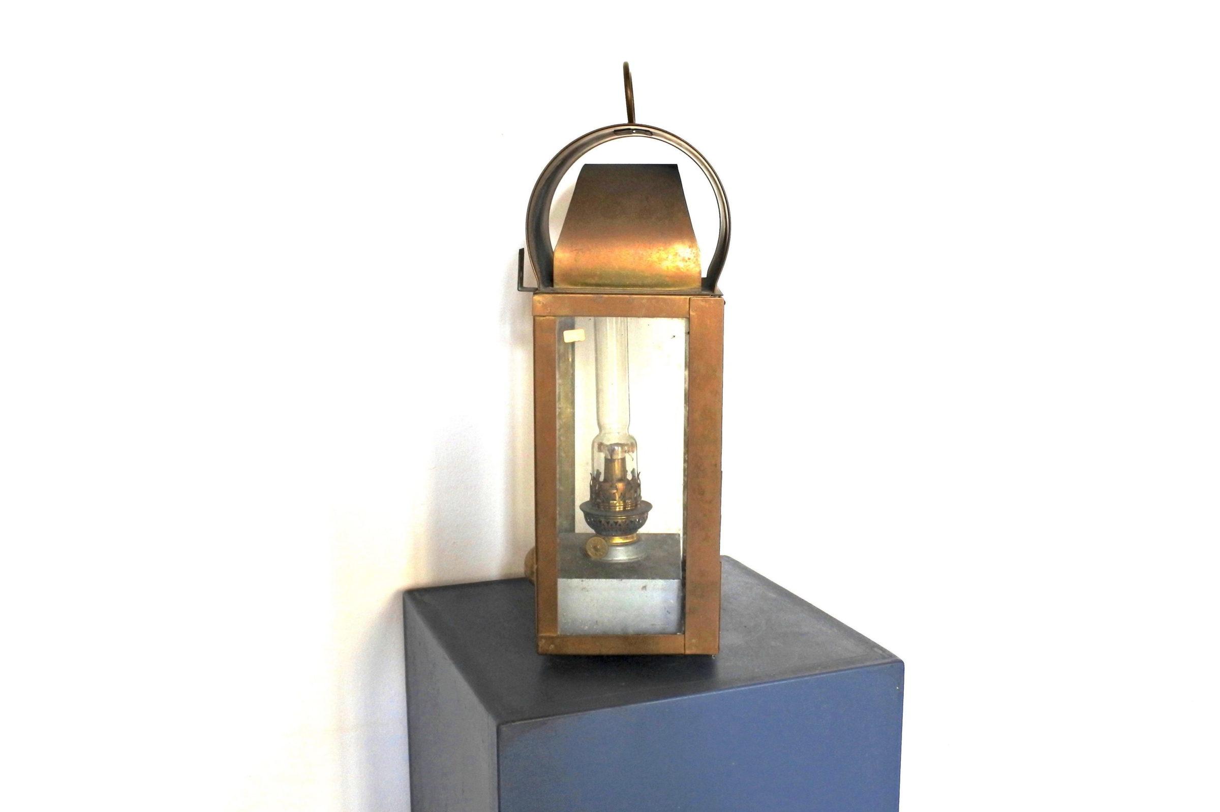 Lanterna in ottone con alimentazione a petrolio - 4