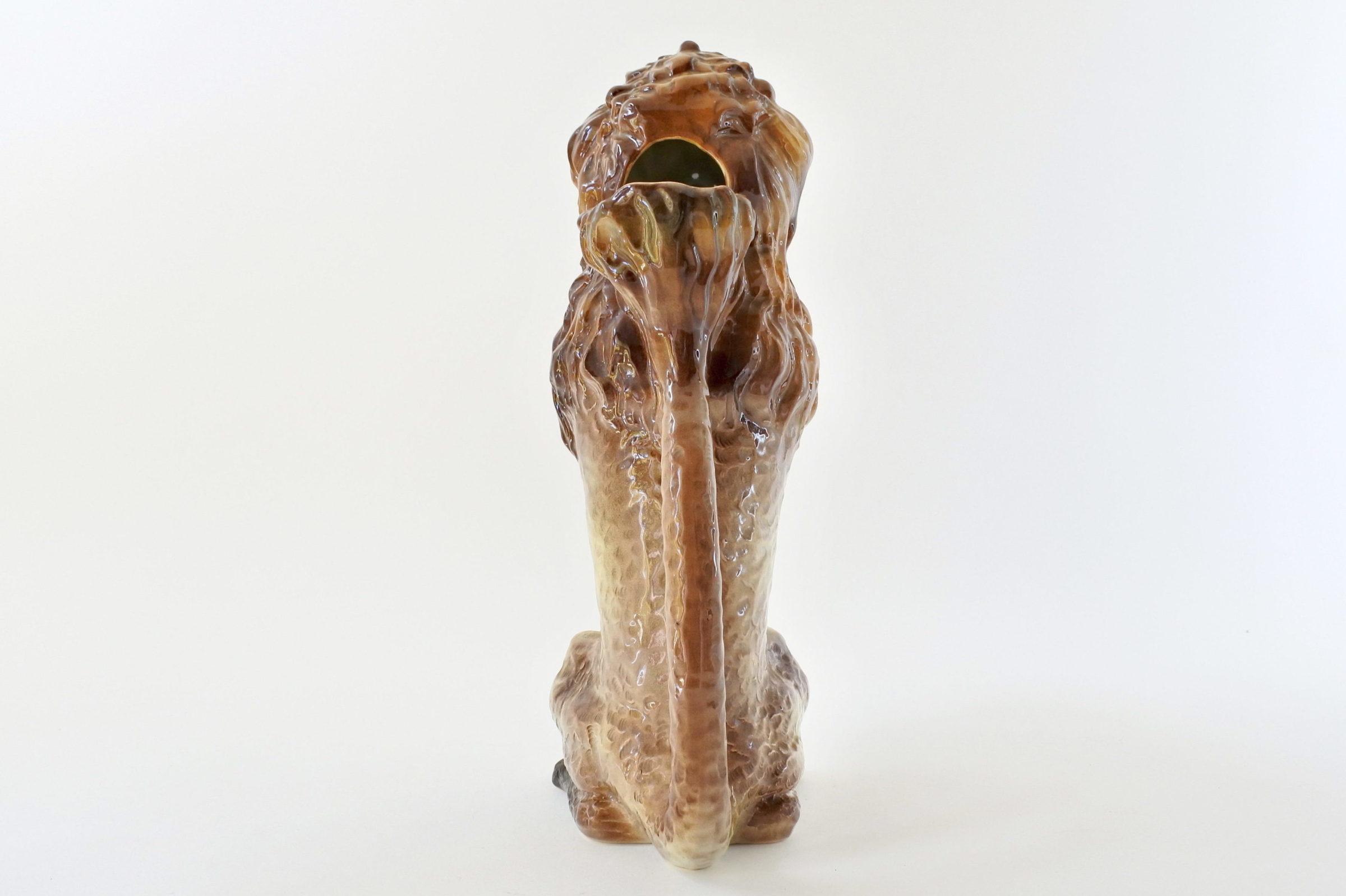 Brocca in ceramica barbotine con forma di barboncino - 3